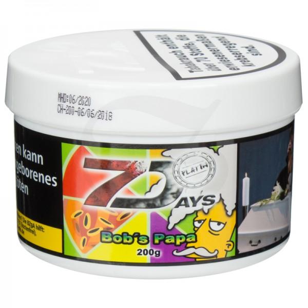 7 Days Platin Tabak - Bob's Papa 200g