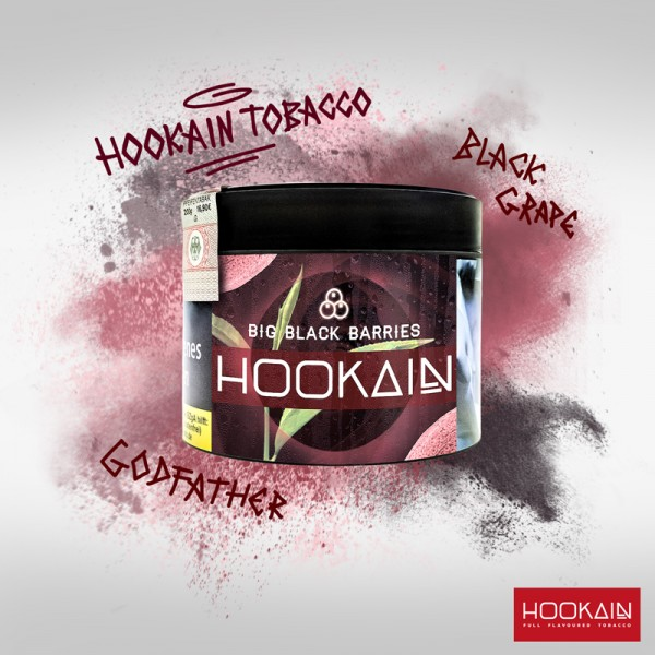 Hookain Shisha Tabak - Big Black Barries 200g