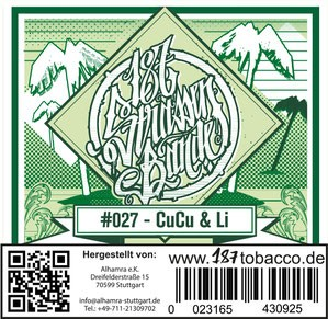 187 Strassenbande Tabak - CuCu & Li 200g