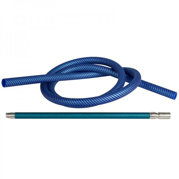 Shisha Silikonschlauch Set - Carbon Blau