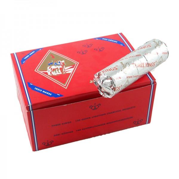 Three Kings Selbstzünder Kohle - 40mm 100er Box