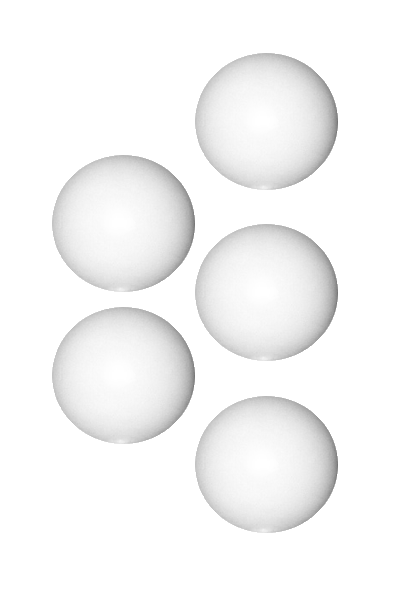 Shisha Ventilkugel aus Polyamid 9mm